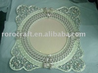 metal pewter pearl tray plate with enamel color decoration wedding craft and gift home decoration