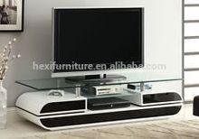 Modern tempered glass top MDF high gloss tv stand TV-5096
