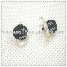 fancy plastic plate knot cuff links