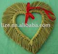 handmade natal grinaldas de palha coração de artesanato