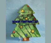 Christmas tree shape melamine plate,dessert plate