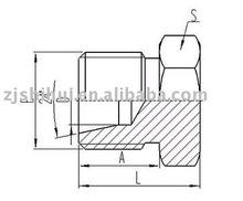 Metric male fitting/tube plug