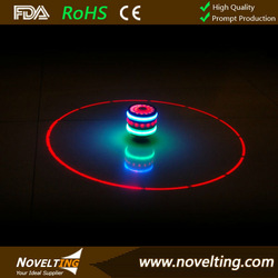 Flashing Shining Spinning Lighting peg top with different lighting modes, Logo printing welcomed