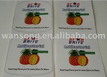 plastic food labels& eco-friendly label