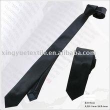 men's 100%polyester black tie