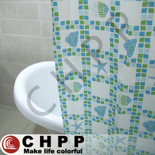 Printed Plastic Bath Shower Windows Curtain