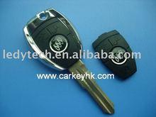 Novo estilo modificado shell chave transponder com ouro afiou, Chave em branco, Chave de chip