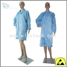 ESD polyester smock, Antistatic portable gown,cotton smock