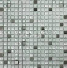 M8SCY11 stainless steel mix glass mosaic tile