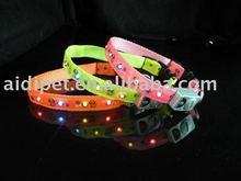 Newest pattern printed pet dog LED flash