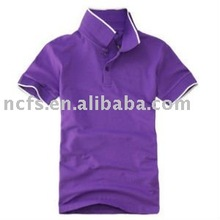 2012 hot sell mens 100% combed cotton polo t shirt with collar