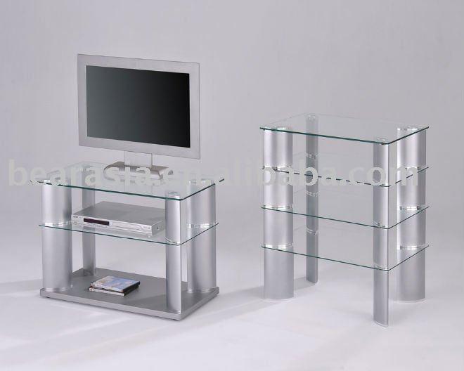 De aluminio de vidrio templado del hogar salón moderno para TV