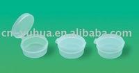 10ml pp single wall plastic jar with flip top