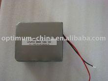 high performance LiFePO4 battery 12V 12Ah for LED lights