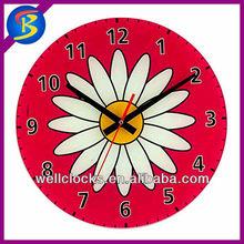 12inch plastic chrysanthemum flower skeleton clock