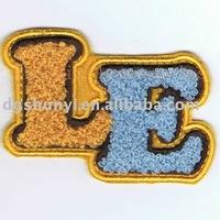 felt letters design chenille pattern applique