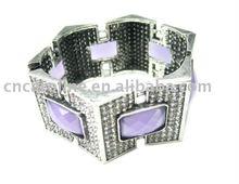 Neweset Fashion Design Bangle Bracelets and Rhinestone Hinged Bracelets