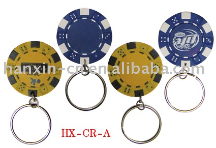 key chain with chips