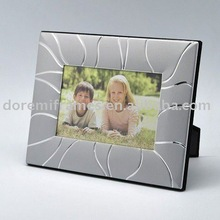 Mate de plata marco de fotos de aluminio para imagen con brillante decoración