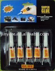 s adhesive glue 5pcs aluminum tube with fashion card