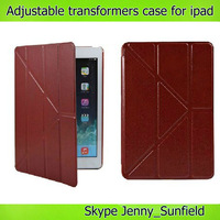 Multi angle transformers smart case for ipad air mini 2 3 4,for ipad case smart ,for ipad air case slim