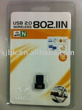 USB 2.0 Wireless 802.11b/g/n Network Interface Adapter