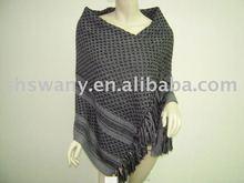 winter super fashion stripe 100%cashmere knitted women shawl/scarf