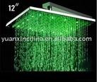 LED light shower head brass or stainless steel