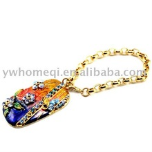classic chinese style crystal colorful metal keyring