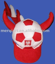 Hot selling world cup poland football hat for poland soccer fans