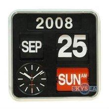 Wall Flip Calendar Clock