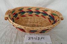 Full handmade wicker bread basket