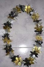 42 inch glitter hawaii flower necklace
