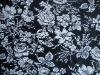 Floral prints elastic swimwear fabric