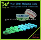 Promotion!!! Custom glow in the dark silicone wristbands
