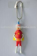 Promotional pvc key accessory cartoon lanyard strap