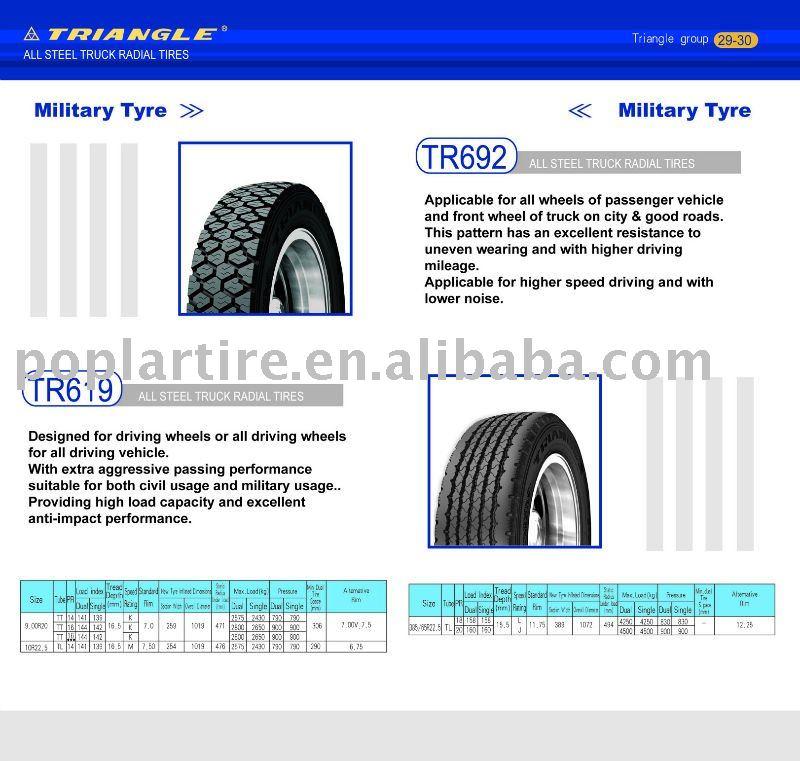 Triángulo de neumáticos de camión 385/65r22.5