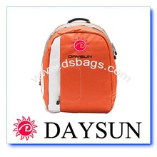 Orange computer backpack 600D Nylon