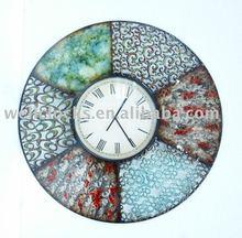 Unique Beautiful Retro Decoration Round Metal Wall Clock