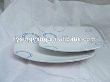 "ceramic sqaure dish plate , square dessert plate ,9"" sqaure plate"