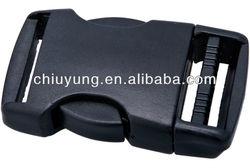 Flat side release buckle