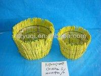 Bright Color Hand-Make Porcelain Storage Rattan Basket