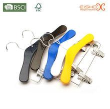 Eisho With Chrome Clips Inserting Nonslip Plastic Strip Wood Hanger