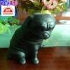 plastic black dog toy , office decoration toy ,shop pet toy