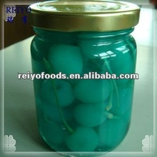 Canned fruits --sour cherry( red, green, yellow, blue)