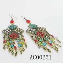 resin pendant antique gold earrings 2012 new design