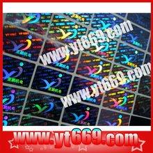 New technology Hologram Labels /laser anti-fake sticker /hologram