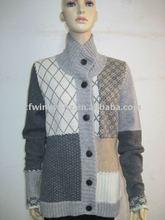 100% wool women cardigan winter sweater