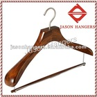 DL0917 Wooden Suit Hanger with elegant body in antique walnut color