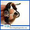pirate symbol Leather Wristband Tribal carving surfing Bracelet